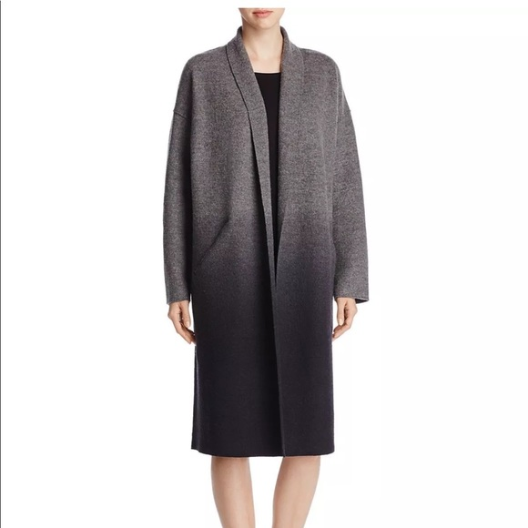 f69a668b3e5 Eileen Fisher Plus Ombré Merino Wool Kimono Coat